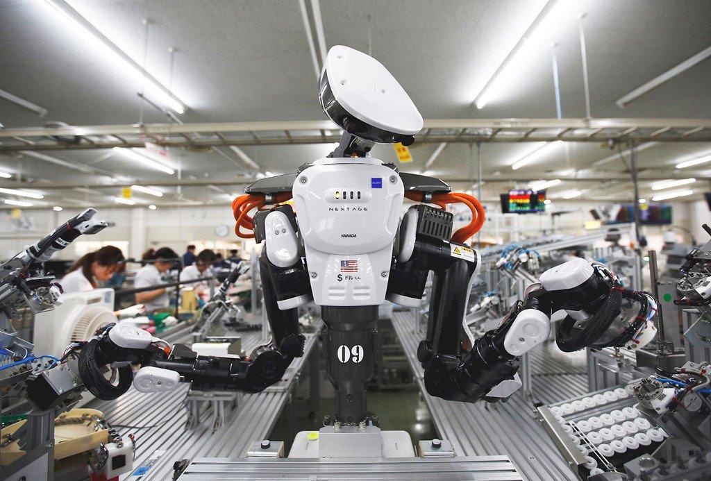 Robot được dự đoán sẽ là nguyên nhân lớn dẫn đến tình trạng thất nghiệp tại Mỹ. Ảnh: Japantimes.