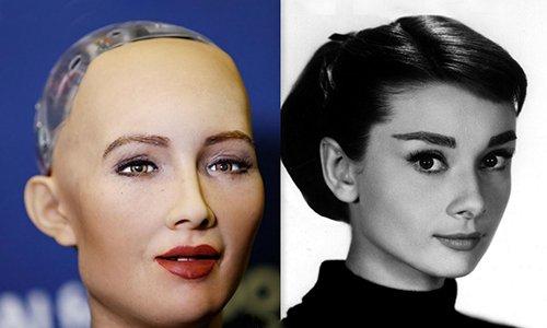 Diện mạo của Sophia được lấy cảm hứng từ ngôi sao điện ảnh Audrey Hepburn
