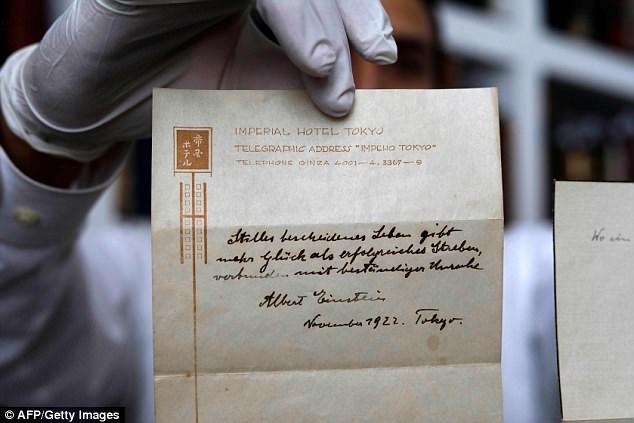 Thuyết hạnh phúc Einstein gửi tặng người đưa thư có giá hơn 35 tỷ đồng - ảnh 3