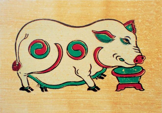 Heo trong tranh Đồng Hồ