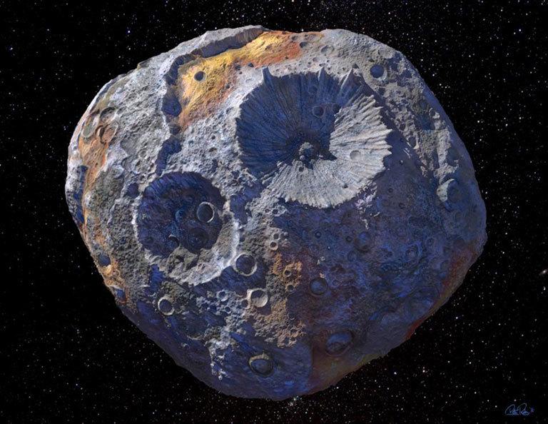 Đồ họa hình dung về thiên thạch Psyche 16. Ảnh: NASA