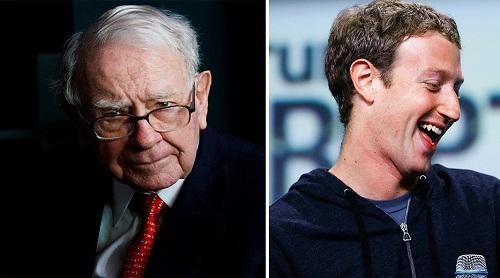 Trong khi ông chủ của Berkshire đang chật vật với sức tàn phá của dịch COVID-19, ông chủ Facebook lại có khoảng thời gian kinh doanh ổn định và thuận lợi. Đồ họa: Phan Anh