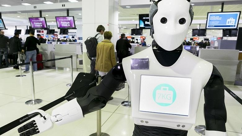 nhân viên robot
