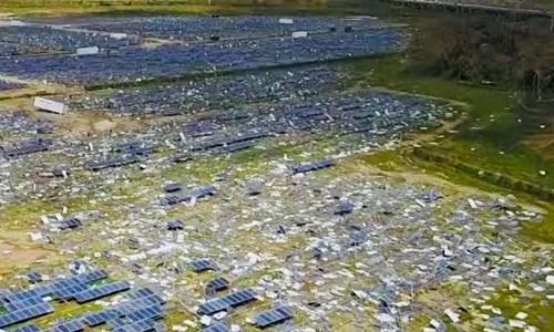 rác pin năng lượng mặt trời
