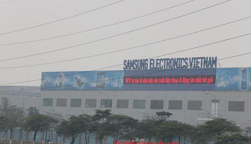 Công ty TNHH Samsung Electronics Việt Nam (KCN Yên Phong, Bắc Ninh). Ảnh: T.Bình.