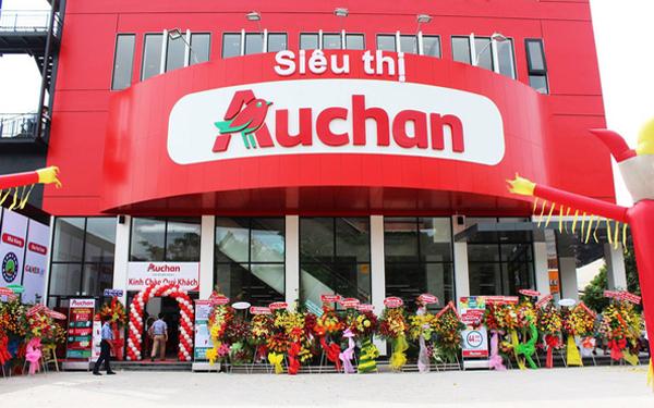 Chuỗi siêu thị Auchan không thể bám trụ tại thị trường Việt Nam. (Ảnh: Cafebiz)