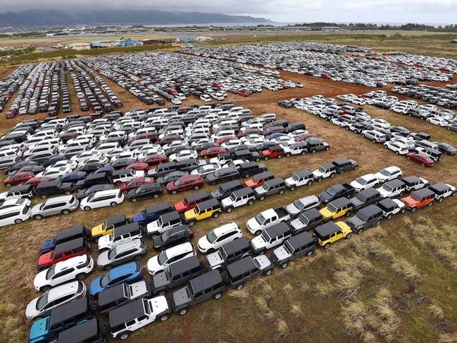 Ô tô nằm chật cứng các bãi đỗ xe tại Mỹ.
