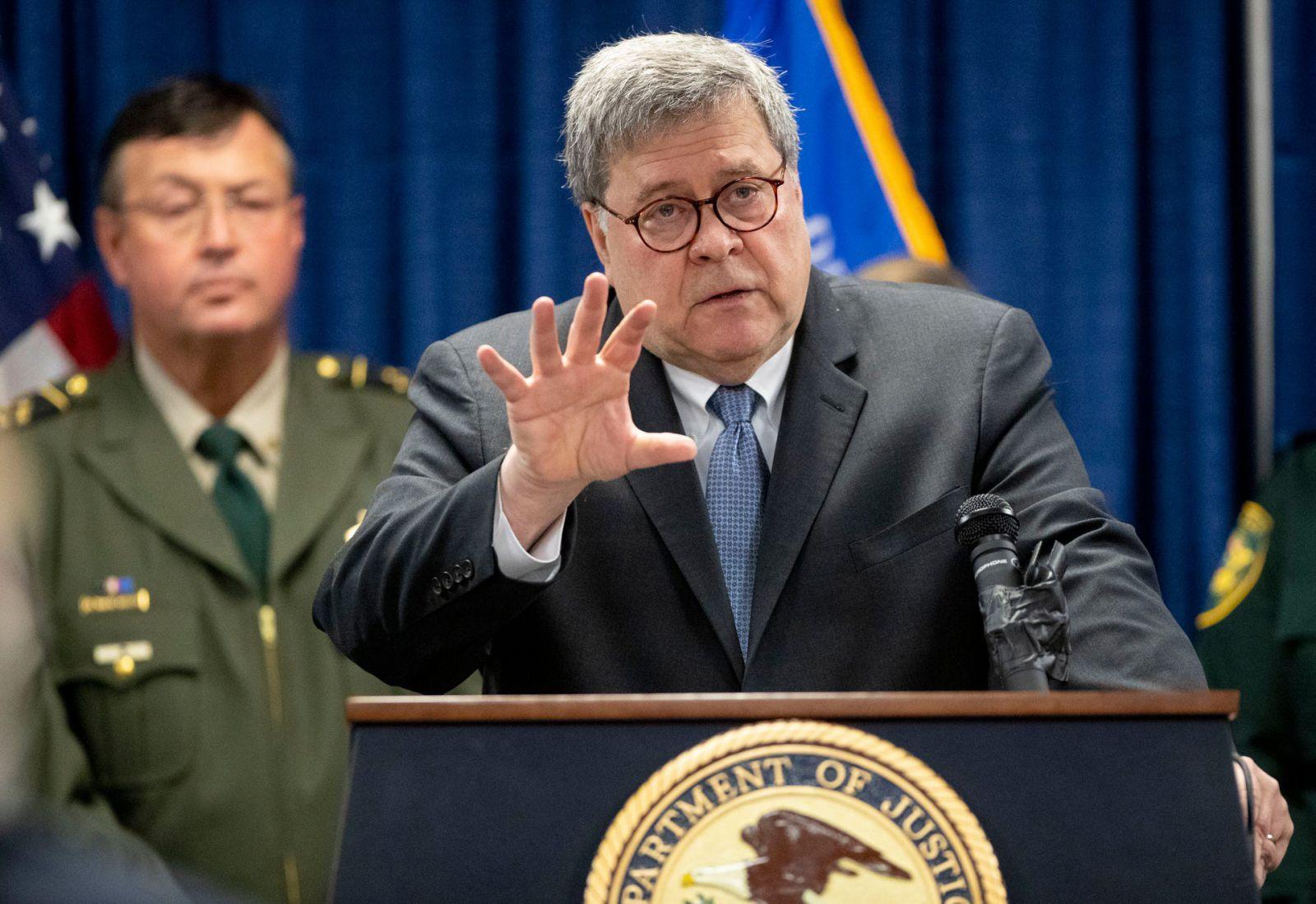 William Barr, Bộ trưởng Bộ Tư pháp Mỹ cho rằng Google đang là