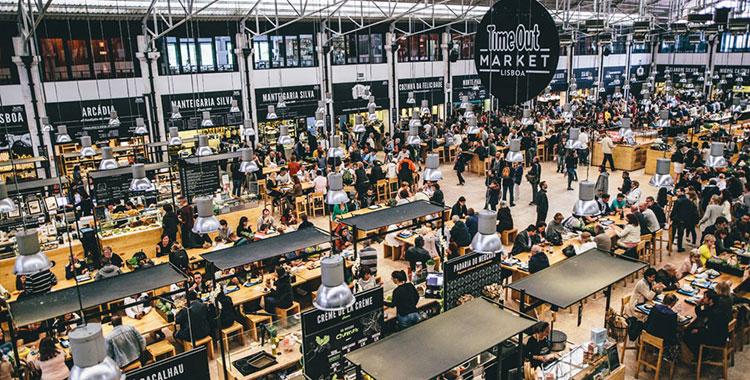 Khu chợ ăn uống Time Out Market Lisboa ở Lisbon, Bồ Đào Nha