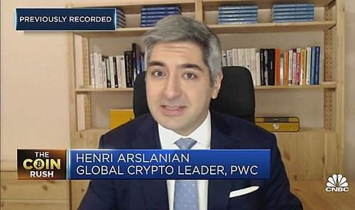 Henri Arslanian, trưởng bộ phận nghiên cứu tiền điện tử toàn cầu của PwC. Ảnh: CNBC.