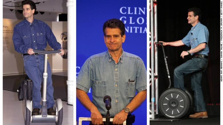 Trang phục của Dean Kamen khá thoải mái (ảnh: getty)