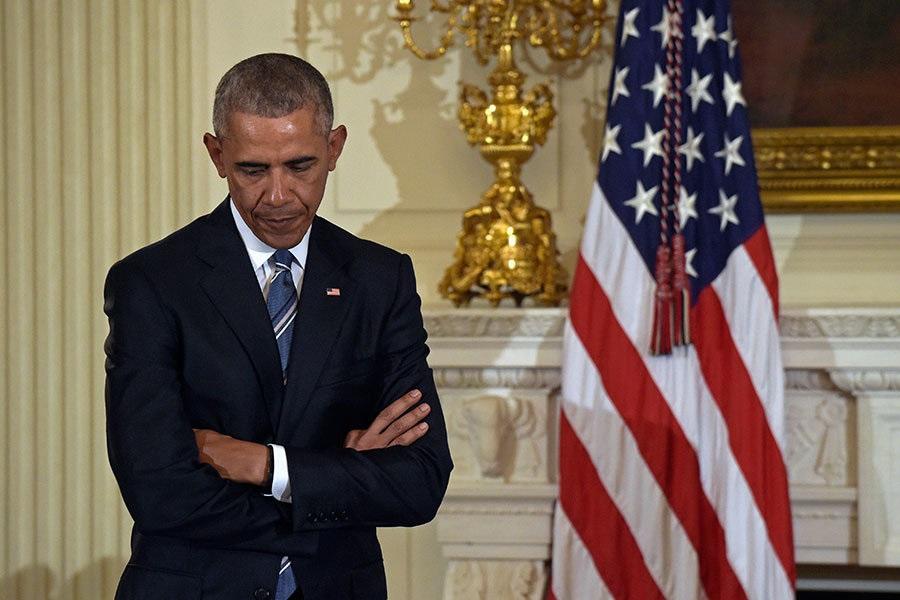 Cựu Tổng thống Mỹ Barack Obama thường mặc các bộ vest giống hệt nhau (ảnh: AP)