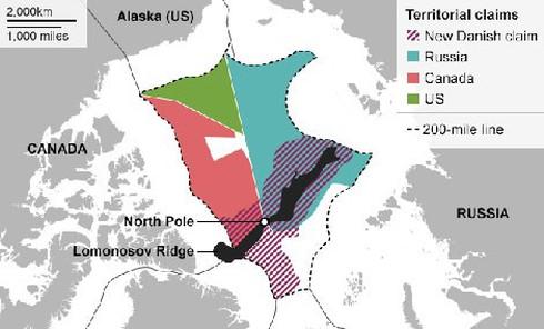 """""""Miếng bánh Bắc Cực"""" đang được các cường quốc tranh giành. Nguồn: 81.cn"""