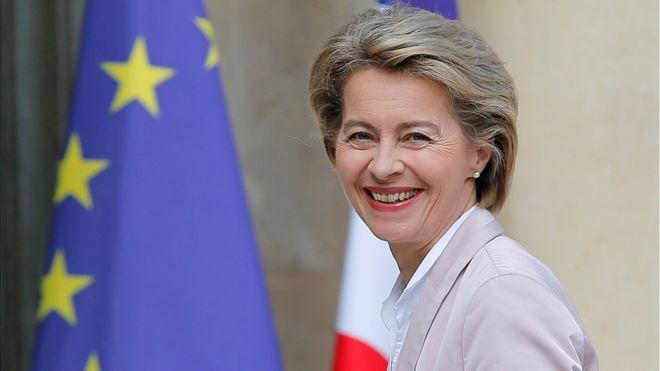 Chủ tịch đắc cử của EC Ursula von der Leyen. Ảnh: News Front
