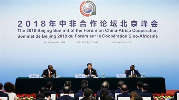 Diễn đàn hợp tác Trung Quốc-Châu Phi tháng 9/2018 tại Bắc Kinh, Trung Quốc. Ảnh: CNBC
