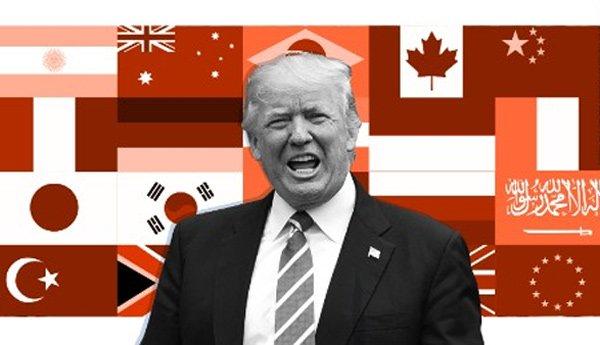 Tổng thống Mỹ Donald Trump có nhiều quan điểm khác với các lãnh đạo G20. (Ảnh: CNN)