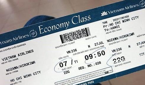 khung giá vé máy bay