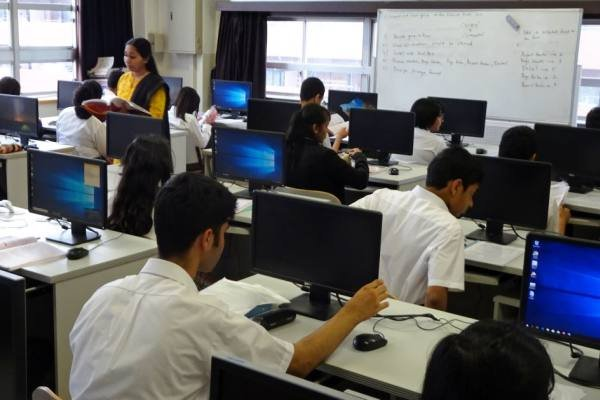 Một lớp học ở Trường quốc tế Ấn Độ tại Nhật Bản (IISJ). Ảnh: Nikkei Asian Review