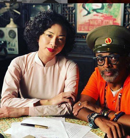 Ngô Thanh Vân và Đạo diễn Spike Lee trên phim trường. Ảnh: NV