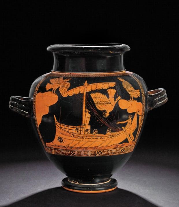 Bình gốm có niên đại 480-470 trước Công nguyên được trưng bày trong triển lãm