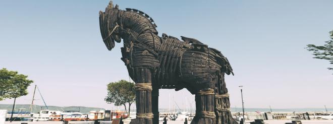 """Ngựa gỗ thành Troy trong phim """"Troy"""""""