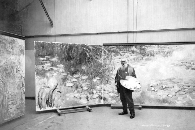 Claude Monet trong xưởng vẽ của mình