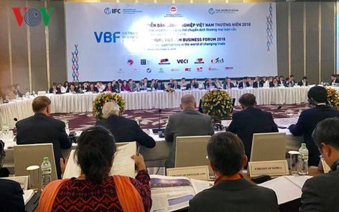 Diễn đàn Doanh nghiệp Việt Nam 2018 khai mạc sáng nay (4/12) tại Hà Nội.