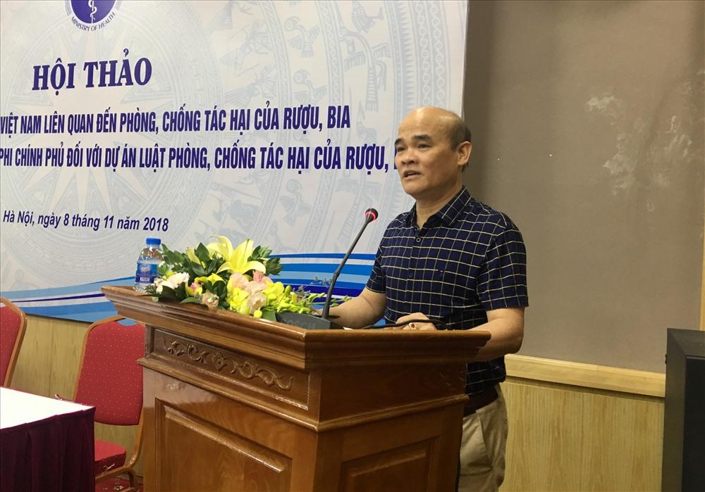 Ông Nguyễn Huy Quang - Vụ trưởng Vụ Pháp chế (Bộ Y tế) phát biểu khai mạc.