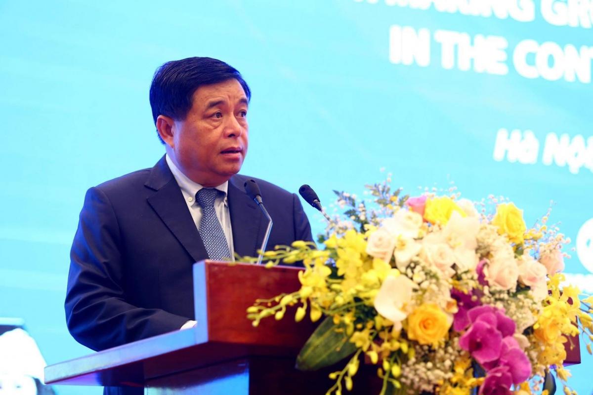 Bộ trưởng Bộ Kế hoạch và Đầu tư Nguyễn Chí Dũng (Ảnh: Lê Tiên)