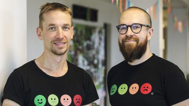 Heikki (trái) và Ville, hai nhà đồng sáng lập Happy Or Not.