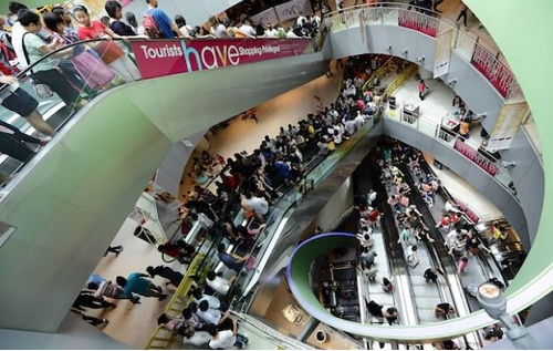 khu trung tâm mua sắm
